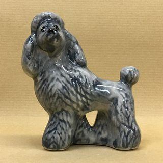 """Figurine porcelain """"Poodle grey"""""""