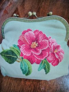 "Handbag women's ""wild Rose"" cotton"