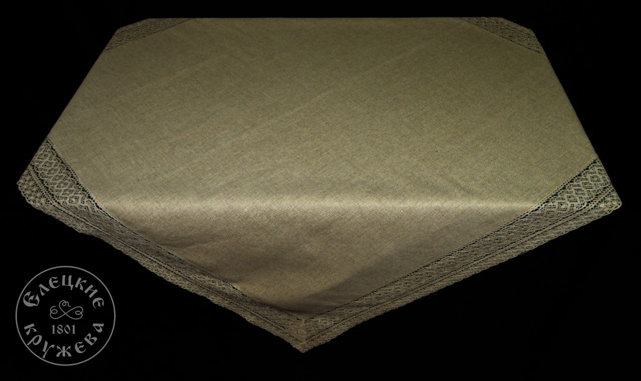 Yelets lace / Linen tablecloth С2070А