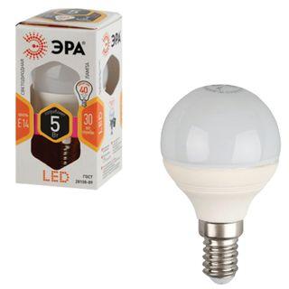 ERA / LED lamp 5 (40) W, E14 base, ball, warm white light, 30,000 h, LED smdP45-5w-827-E14