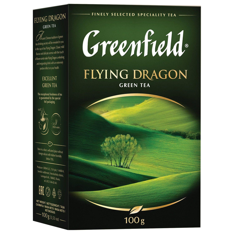 """GREENFIELD / Tea """"Flying Dragon"""" green leaf, 100 g"""