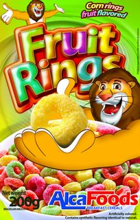 Corn ringlets with fruit flavor
