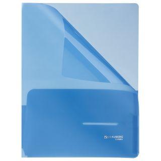 Folder corner with 2 pockets BRAUBERG, blue, 0,18 mm