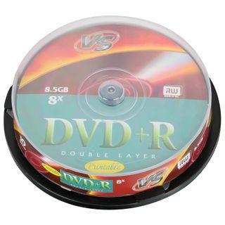 VS / Discs DVD + R 8,5 Gb 8x Cake Box two-layer, SET 10 pcs.