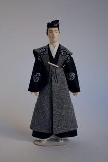 Doll gift. Costume aristocrat. Japan
