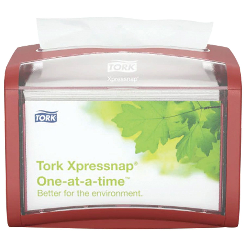 TORK / Tabletop napkin dispenser N4 Xpressnap red, holds 200 pcs. napkins