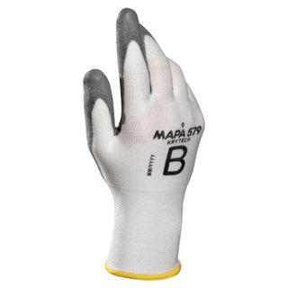 MAPA / KryTech 579 textile gloves, polyurethane coating (doused), size 10 (XL), white