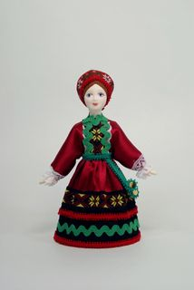 Doll gift porcelain. Center. Russia. Girl in birthday suit.
