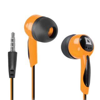 DEFENDER / Headphones Basic 604, wired, 1.2 m, in-ear, black with orange