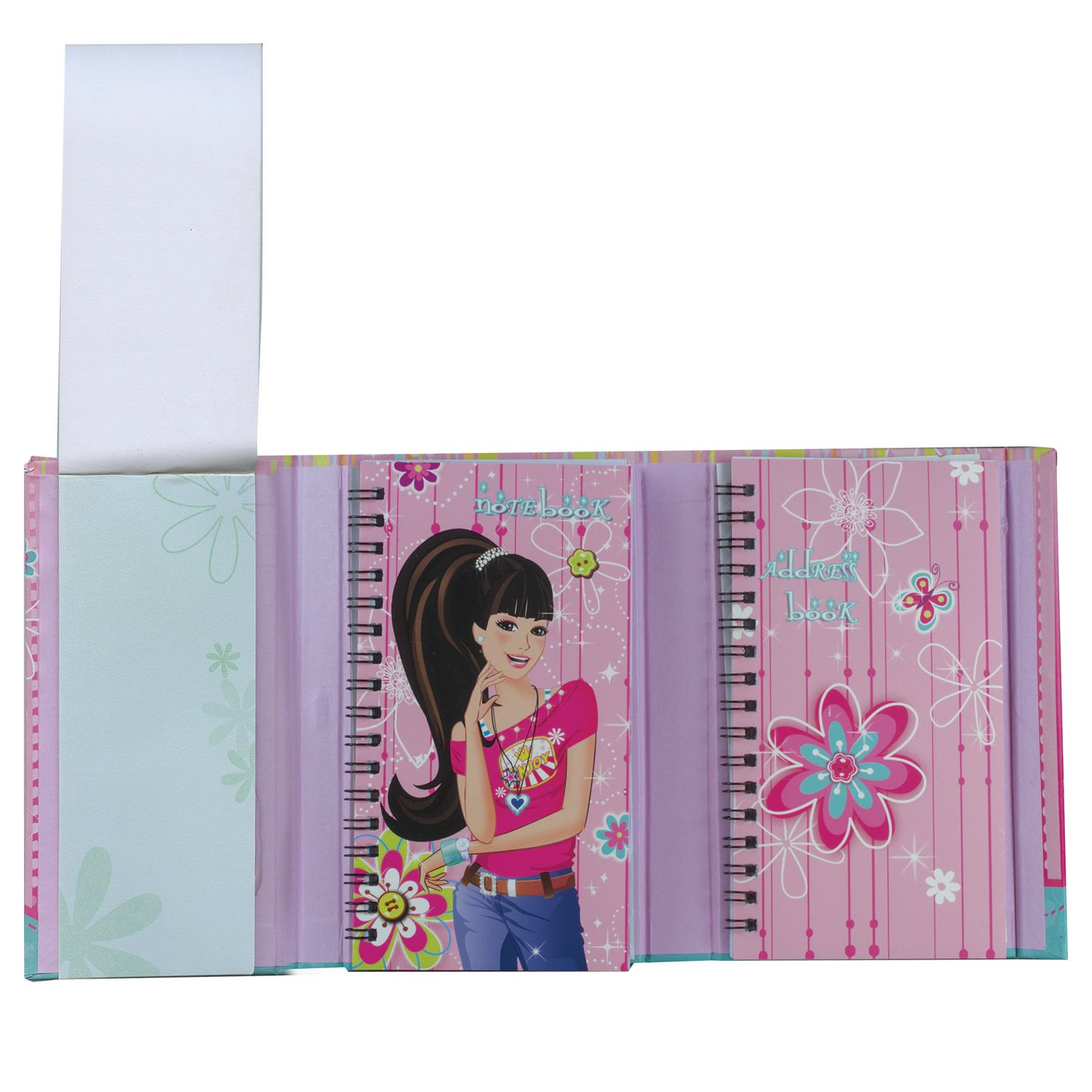 """BRAUBERG / Notebook with notebook """"Girl"""" SMALL FORMAT 50 + 50 sheets A6, 88x125 mm, hardcover"""