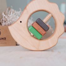 Shaking 'Hedgehog' - developing children's wooden toy