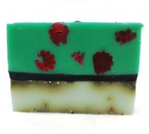 Handmade bar soap with herbs Raspberry