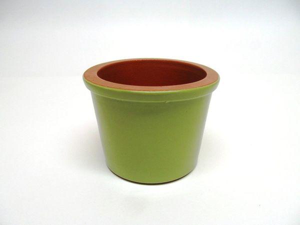 Vyatka ceramics / Set of 6 muffin tins, 0.2 l. (light green)