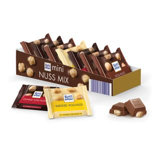 RITTER SPORT / Chocolate portions (Germany) 1 assorted bar with whole nuts, 16.7 g