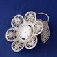 """Kazakovskaya Filigree / Souvenir """"Forget-me-not with a watch"""" silvering - view 1"""