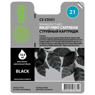 Inkjet cartridge CACTUS (CS-C9351) for HP Deskjet 3920/3940 / officeJet4315, black 10.4 ml