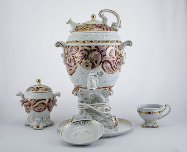 Delta-X / Porcelain electric samovar model 3 with tea pairs