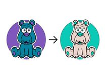 Decal on textile Teddy bear
