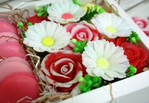 Gift set of handmade soap Bouquet with sweets