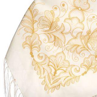 """Woolen shawl """"Butterfly"""" white"""