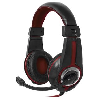 DEFENDER / Headphones with microphone (headset) Warhead G-185, wired, 2 m, stereo, black-red