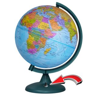 Political globe with a diameter of 250 mm with backlight battery powered (batteries not included)