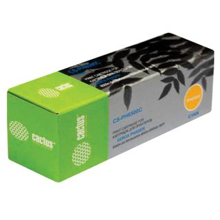 Laser cartridge CACTUS (CS-PH6500C) for XEROX Phaser 6500 / WC6505, cyan, yield 2500 pages.