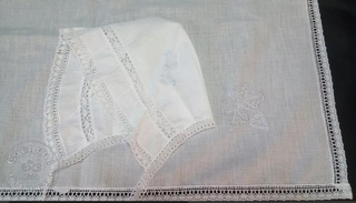 Yelets lace / Christening set for a boy