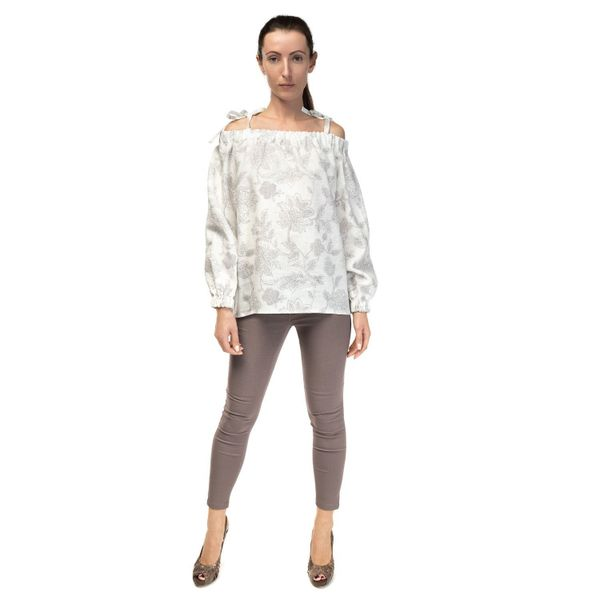 Blouse female 'Dion' of gray color model 2385-1
