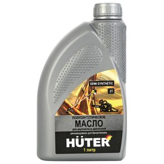 Engine oil semi-synthetic, for two-stroke engines, 1 liter, HUTER 2T