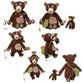 Educational toy 'Teddy bear and baby', 40 cm  01EB0033 - view 2