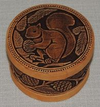 """Belochka"", ""Holy Russia"" jewelery - birch bark box"