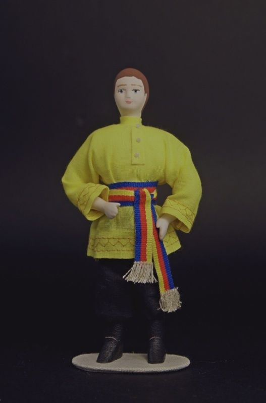 Doll gift. A boy in Russian costume