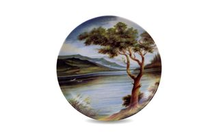 Dulevo porcelain / Wall plate Summer, diameter 200 mm