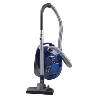 Vacuum cleaner BOSCH BSGL32383, container, cyclone, 2300 watts, suction power 470 watts, blue