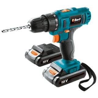 Drill screwdriver battery, 18 B, Li-Ion, 1350 rpm, 2 batteries, BORT BAB-18Ux2Li-FDK