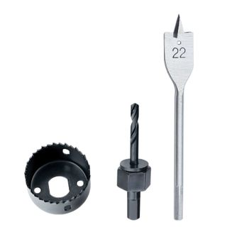 Set for insertion locks, 22 mm - 54 mm (feather drill/ring saw), MATRIX