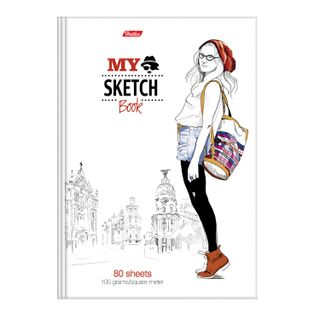 "Sketchbook, white paper 100 g / m2, 175x205 mm, 80 sheets, comb, ""Artist"""