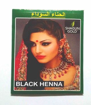 Hair dye based on Indian henna (black)