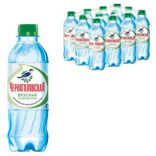"""CHERNOGOLOVKA / Carbonated mineral water """"CHERNOGOLOVSKAYA"""", 0.33 l, plastic bottle"""