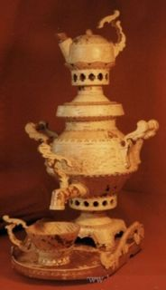 "Tea set with samovar ""Winged"", capacity 5 liters."