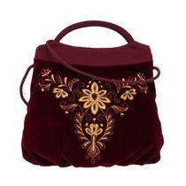 Velvet bag 'Moonlight' burgundy gold