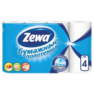ZEWA / White 2-layer household paper towels, solder 4 pcs. (4x14 m)