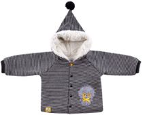 Jacket knitted on buttons with a hood 'Basik Kids'