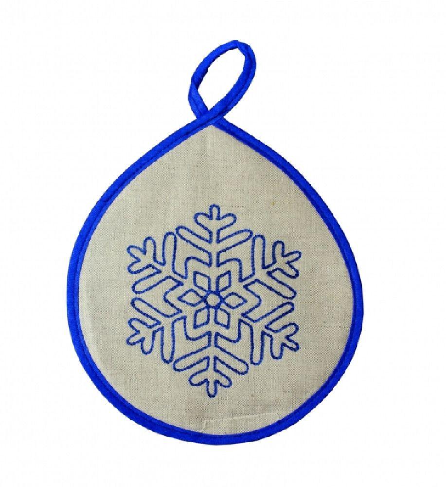 Potholder snowflake blue