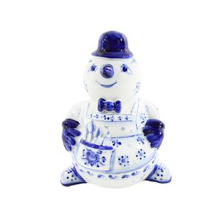The sculpture Snowman-master cobalt 2 grade, Gzhel Porcelain factory