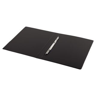 Folder with metal spring binder BRAUBERG, cardboard/PVC, 35 mm, black, up to 290 sheets
