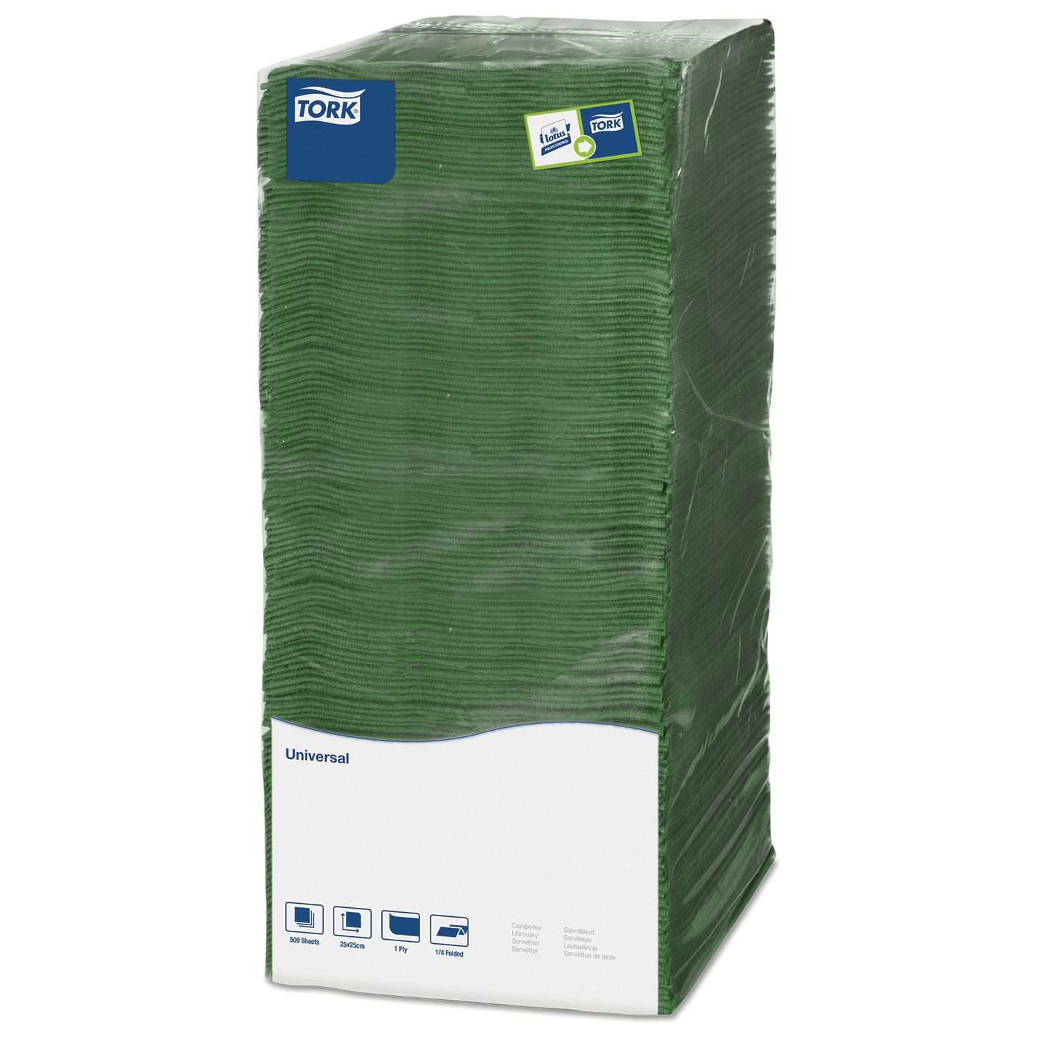 TORK / Napkins Big Pack green, 25x25, 500 pcs.