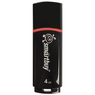 SMARTBUY / 4 GB Flash Drive, Crown, USB 2.0, Black