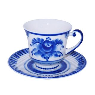 Saucer Daisy 1st grade, Gzhel Porcelain factory